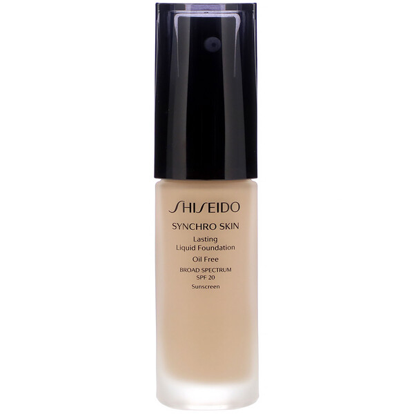 Shiseido, Synchro Skin, Lasting Liquid Foundation, SPF 20, Neutral 3, 1 fl oz (30 ml)