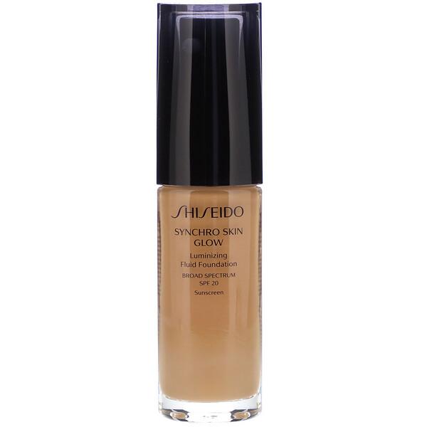 Synchro Skin Glow, Luminizing Fluid Foundation, SPF 20, Golden 5, 1 fl oz (30 ml)