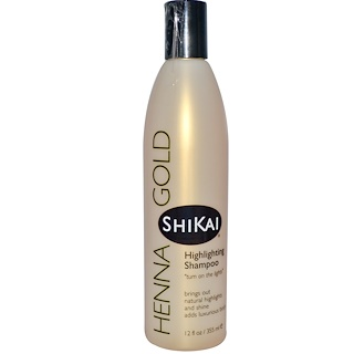 Shikai, Henna Gold, Шампунь для светлых волос, 12 жидких унций (355 мл)