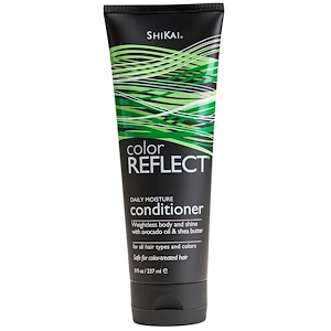 Shikai, Color Reflect, Увлажняющий кондиционер для ежедневного применения, 8 жидких унций (238 мл) инструкция, применение, состав, противопоказания