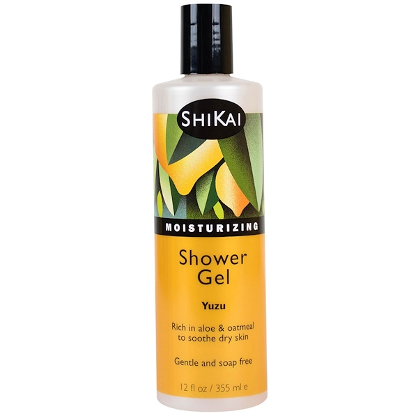 Shikai, Moisturizing Shower Gel, Yuzu, 12 fl oz (355 ml)