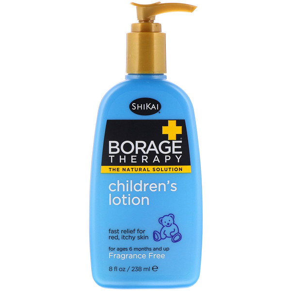Shikai, Borage Therapy, Children's Lotion, Fragrance Free, 8 fl oz (238 ml) (Discontinued Item)