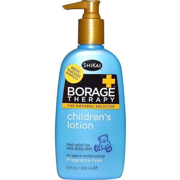 Shikai, Borage Therapy, Children's Lotion, Fragrance Free, 8 fl oz (238 ml)