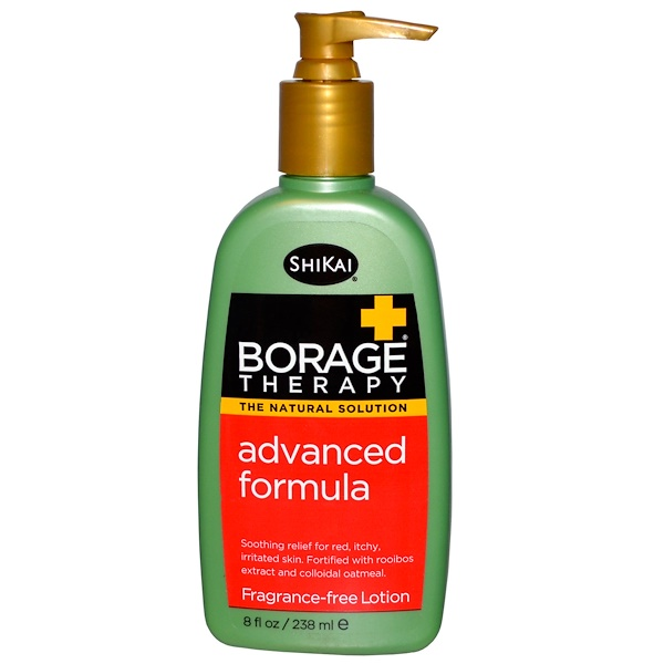 Shikai, Borage Therapy, Advanced Formula Lotion, Fragrance-Free, 8 fl oz (238 ml) (Discontinued Item)