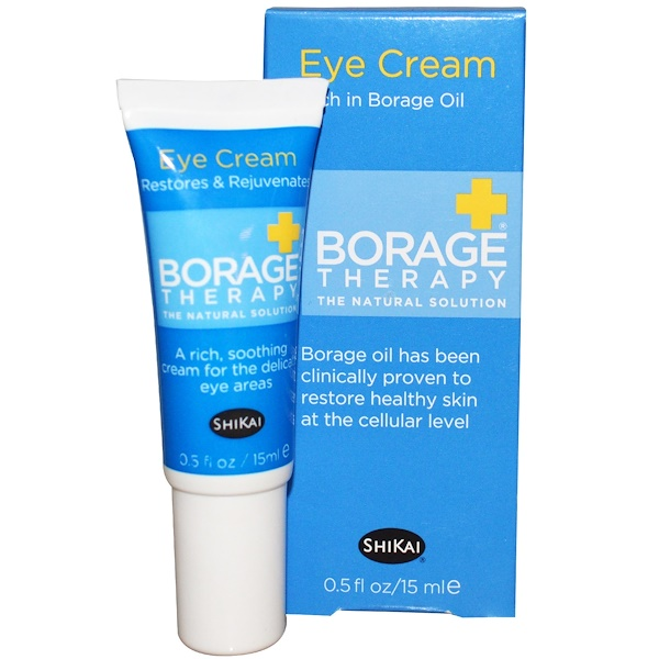 Shikai, Borage Therapy, Eye Cream, 0.5 fl oz (15 ml) (Discontinued Item)