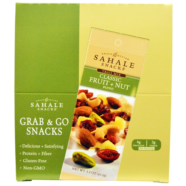 Sahale Snacks, Trail Mix, Classic Fruit + Nut Blend, 9 Packs, 1.5 oz (42.5 g) Each