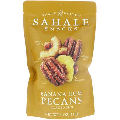 Sahale Snacks Snack Better, Glazed Mix, Banana Rum Pecans, 4 oz (113 g)