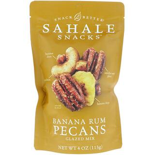Sahale Snacks, Glazed Mix, Banana Rum Pecans, 4 oz (113 g)
