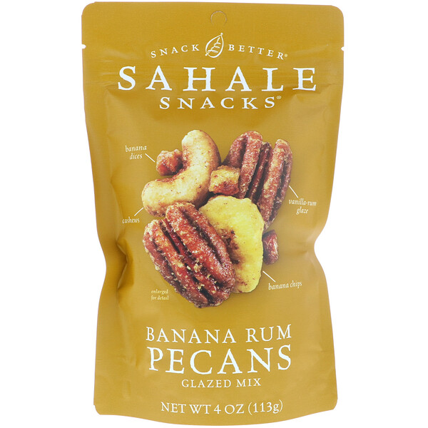Sahale Snacks, Glazed Mix, Banana Rum Pecans, 4 oz (113 g)