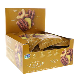 Sahale Snacks, Glazed Mix, Banana Rum Pecans, 9 Packs, 1.5 oz (42.5 g) Each