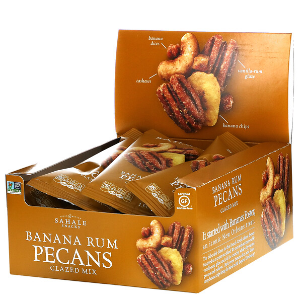 Glazed Mix, Banana Rum Pecans, 9 Packs, 1.5 oz (42.5 g) Each