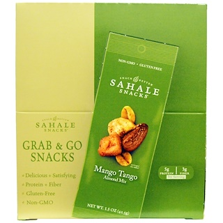 Sahale Snacks, Mango Tango Almond Mix, 9 Packs, 1.5 oz (42.5 g) Each