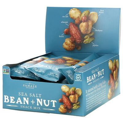 Sahale Snacks Snack Mix, Sea Salt Bean + Nut, 9 Bags,1.25 oz (36 g) Each