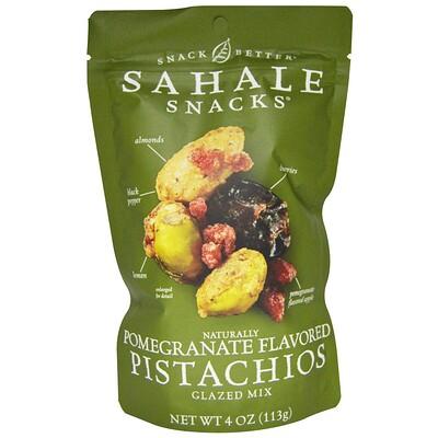 Купить Snack Better, фисташки с натуральным вкусом граната, глазированная смесь, 4 унции (113 г)