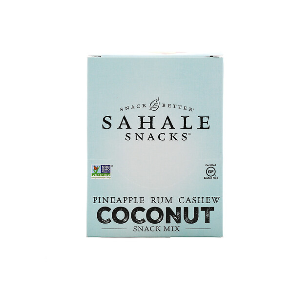 Sahale Snacks, Snack Mix, Pineapple Rum Cashew Coconut, 7 Packs, 1.5 oz (42.5 g) Each