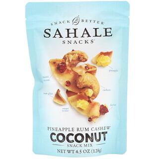 Sahale Snacks, Petiscos, Abacaxi, Rum, Castanhas de Caju e Coco, 128g (4,5oz)