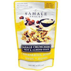 Сехале Снакс, Sahale Crunchers, Fruit & Almond Snack, Cranberries, Sesame Seeds + Honey, 4 oz (113 g) отзывы