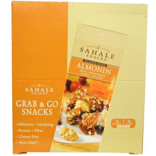 Sahale Snacks, アーモンドとクランベリー、 ハチミツ & シーソルト、 9ユニット、 各1.5オンス (42.5 g) (Discontinued Item)