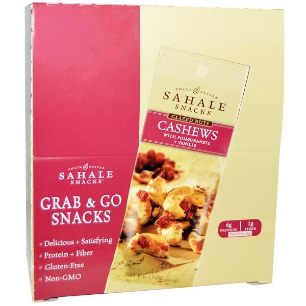 Sahale Snacks, Cashews with Pomegranate & Vanilla, 9-pack (1.5 oz each) (Discontinued Item)