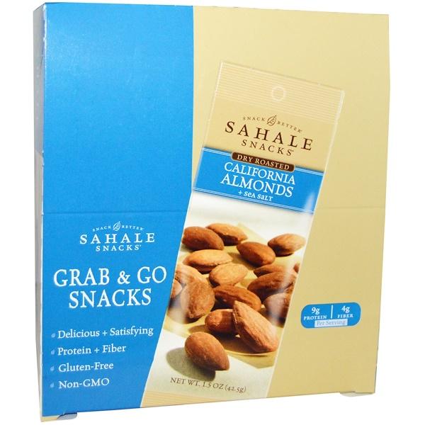 Sahale Snacks, California Almonds with Sea Salt, 9-pack (1.5 oz each) (Discontinued Item)