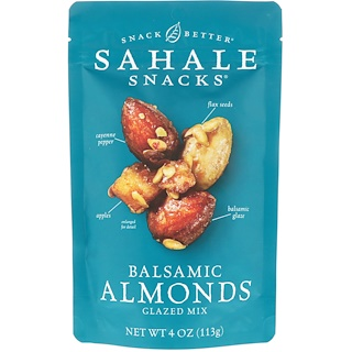 Sahale Snacks, Glazed Mix, Balsamic Almonds, 4 oz (113 g)