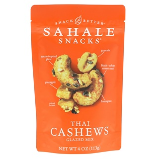 Sahale Snacks, Glazed Mix, Thai Cashews, 4 oz (113 g)