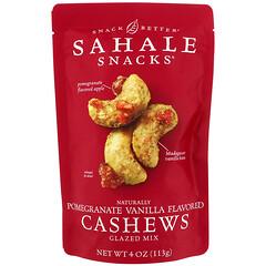 Sahale Snacks, Glazed Mix, Naturally Pomegranate Vanilla Flavored Cashews, 4 oz (113 g)