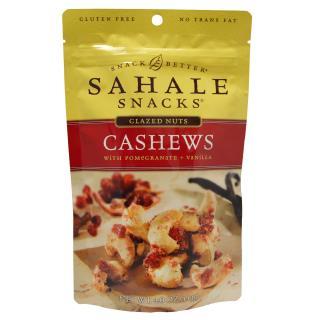 Sahale Snacks, Glazed Nuts, Cashews With Pomegranate + Vanilla, 4.0 oz (113 g)
