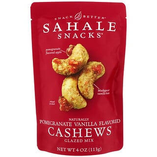 Sahale Snacks, Naturally Pomegranate Vanilla Flavored Cashews Glazed Mix, 4 oz (113 g)