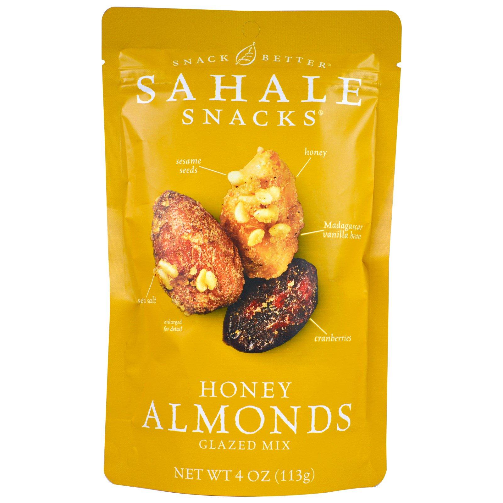 Sahale Snacks, Глазированная смесь Honey Almonds, 4 унции (113 г)