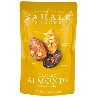 Sahale Snacks, Honey Almonds Glazed Mix, 4 oz (113 g)
