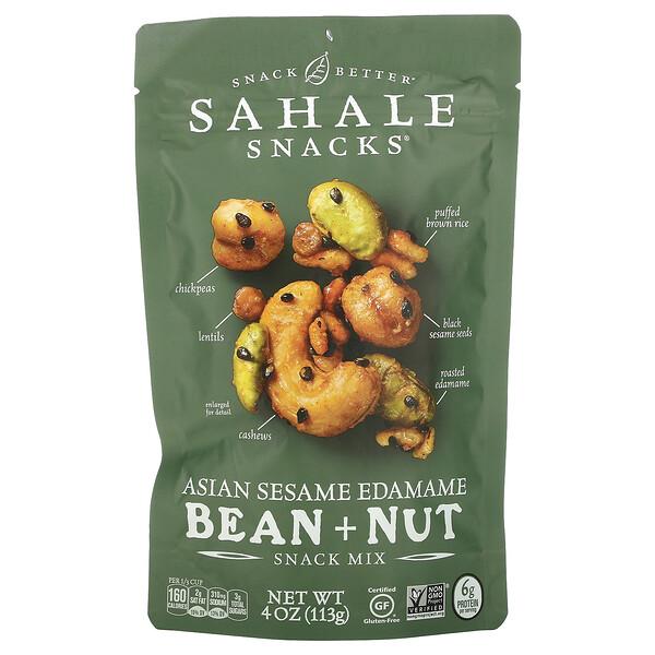 Snack Mix, Asian Sesame Edamame Bean + Nut, 4 oz (113 g)