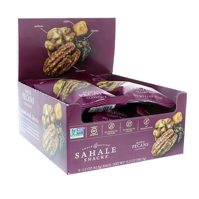 Купить Sahale Snacks Глазированный батончик, кленовые орехи и пекан, 9 упаковок, 1, 5 унции (42, 5 г)