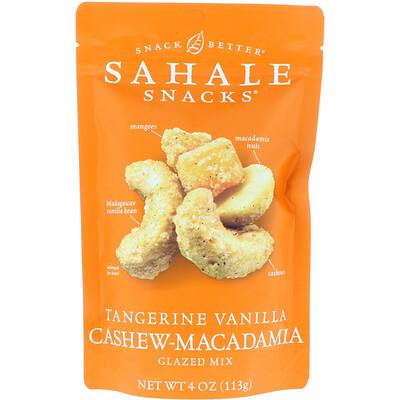 Sahale Snacks Глазированная смесь: мандарин, ваниль, кешью и макадмия, 4 унц. (113 г)  - купить со скидкой