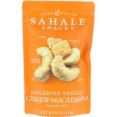 Sahale Snacks, Glazed Mix, Tangerine Vanilla Cashew-Macadamia, 4 oz (113 g)