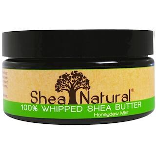 Shea Natural, 100% взбитое масло ши, мускатная дыня-мята, 6,3 унций (178 г)