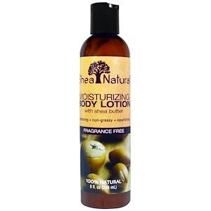Shea Natural, Увлажняющий лосьон для тела с маслом ши, без отдушек, 8 жидких унций (236 мл)