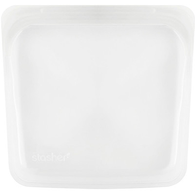 Купить Stasher Многоразовый силиконовый контейнер для еды, удобный размер для бутербродов, средний, прозрачный, 450мл (15жидк.унций)