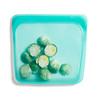 Stasher, リユーザブルシリコンフードバッグ, サンドウィッチサイズ(中サイズ), アクア, 450ml(15 fl oz)