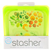 Stasher, Reusable Silicone Food Bag, Sandwich Size Medium, Lime, 15 fl oz (450 ml)