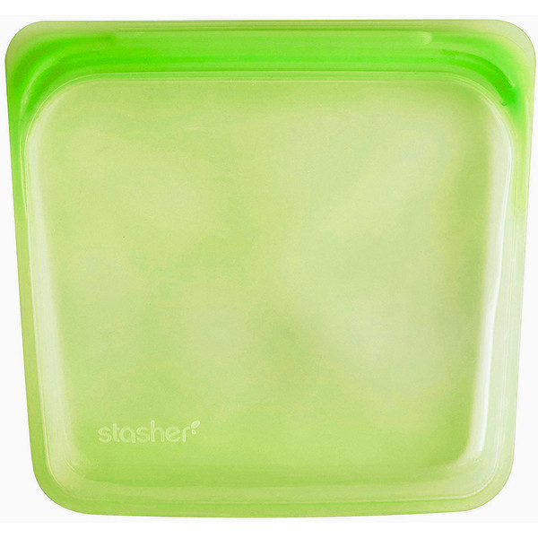 Reusable Silicone Food Bag, Sandwich Size Medium, Lime, 15 fl oz (450 ml)