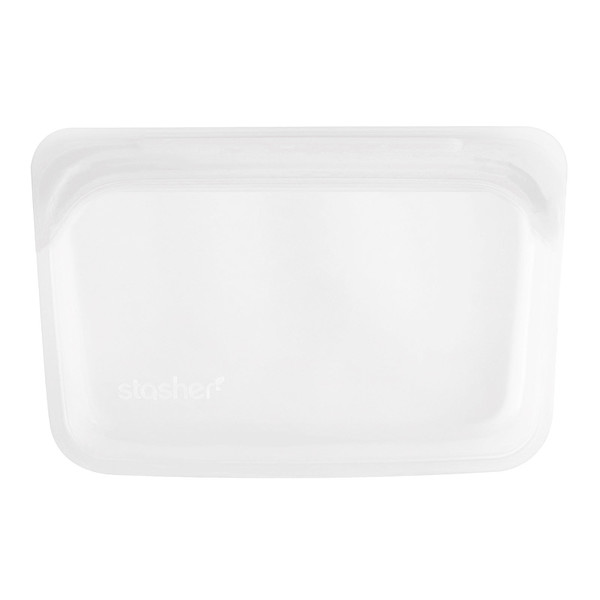 Reusable Silicone Food Bag, Snack Size Small, Clear, 9.9 fl oz (293.5 ml)