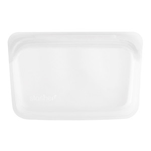 Stasher, Reusable Silicone Food Bag, Snack Size Small, Clear, 9.9 fl oz (293.5 ml) отзывы покупателей