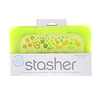 Stasher, Reusable Silicone Food Bag, Snack Size Small, Lime, 9.9 fl oz (293.5 ml)