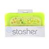Stasher, Embalagem Reutilizável de Silicone para Alimentos, Tamanho de Lanche Pequeno, Lima, 9,9 fl oz (293,5 ml)