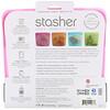 Stasher, Reusable Silicone Food Bag, Sandwich Size Medium, Raspberry, 15 fl oz (450 ml)