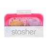 Stasher, Embalagem Reutilizável de Silicone para Alimentos, Tamanho de Lanche Pequeno, Cor de Framboesa, 9,9 fl oz (293,5 ml)
