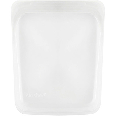 Купить Stasher Многоразовый силиконовый пищевой контейнер на пол галлона, прозрачный, 1, 92 л (64, 2 жидк. унции)