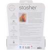 Stasher, 可重複使用矽樹脂食品袋,半加侖容量,透明,64.2液體盎司(1.92升)