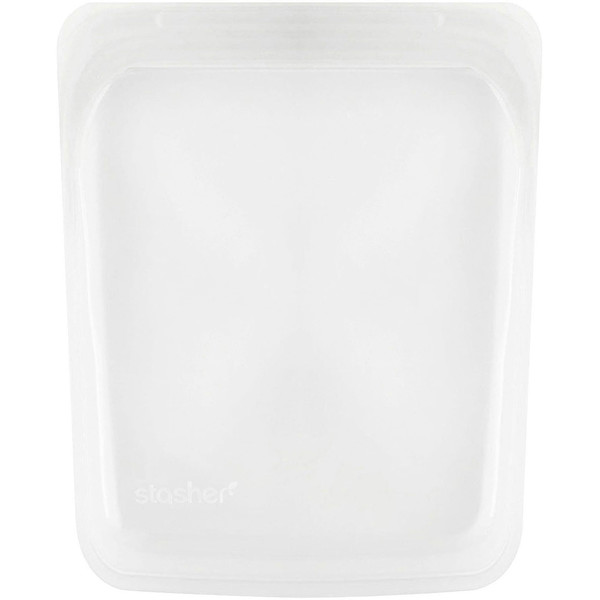 Reusable Silicone Food Bag, Half Gallon Bag, Clear, 64.2 fl oz (1.92 l)